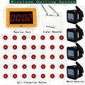 Pager sem fio Sistema de Chamada Para O Restaurante Do Hotel Com Receptor Receptor Relógio + Repetidor de Sinal Anfitrião + 35 pcs Botão de Chamada F3250C