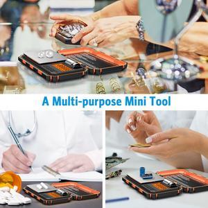 Image 5 - Digital Pocket Küche Skala LED 200g/0,01g Mini Tragbare Elektronische Waagen Essen Mess Küche Lebensmittel Skala Gewicht werkzeug