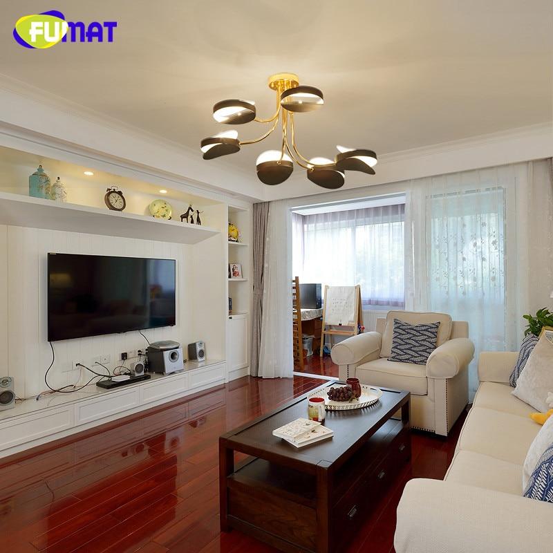 € 210.09 5% de réduction|FUMAT LED ronde plafonniers chambre Vintage  industriel plafonniers en métal luminaires nordique luxe moderne plafonnier  ...
