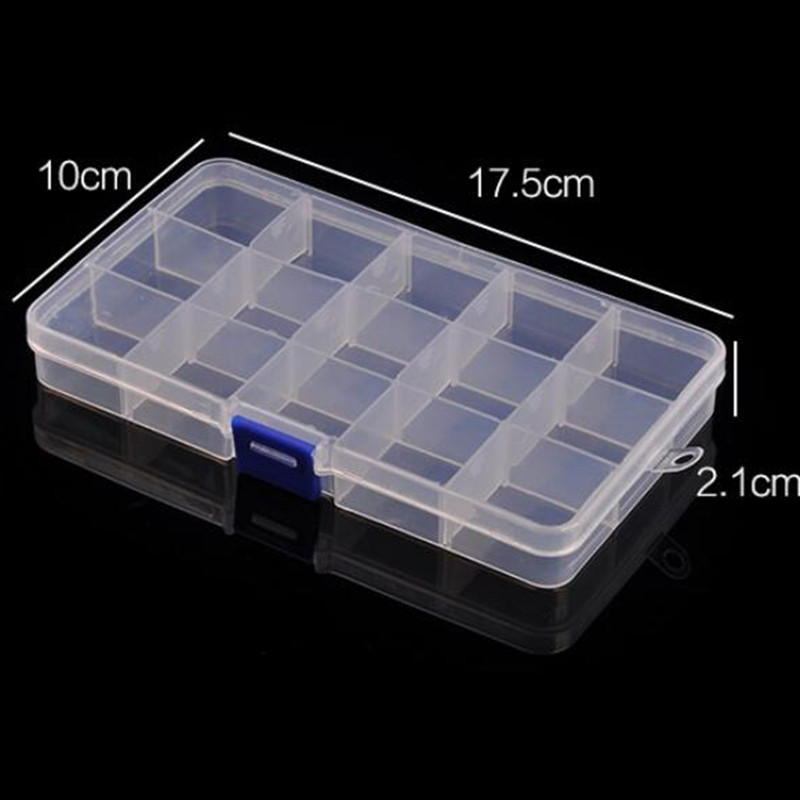 17.5*10CM Plastic Box Tool Box Transparent Rectangle Removable Plastic Jewelry Box  Wholesale