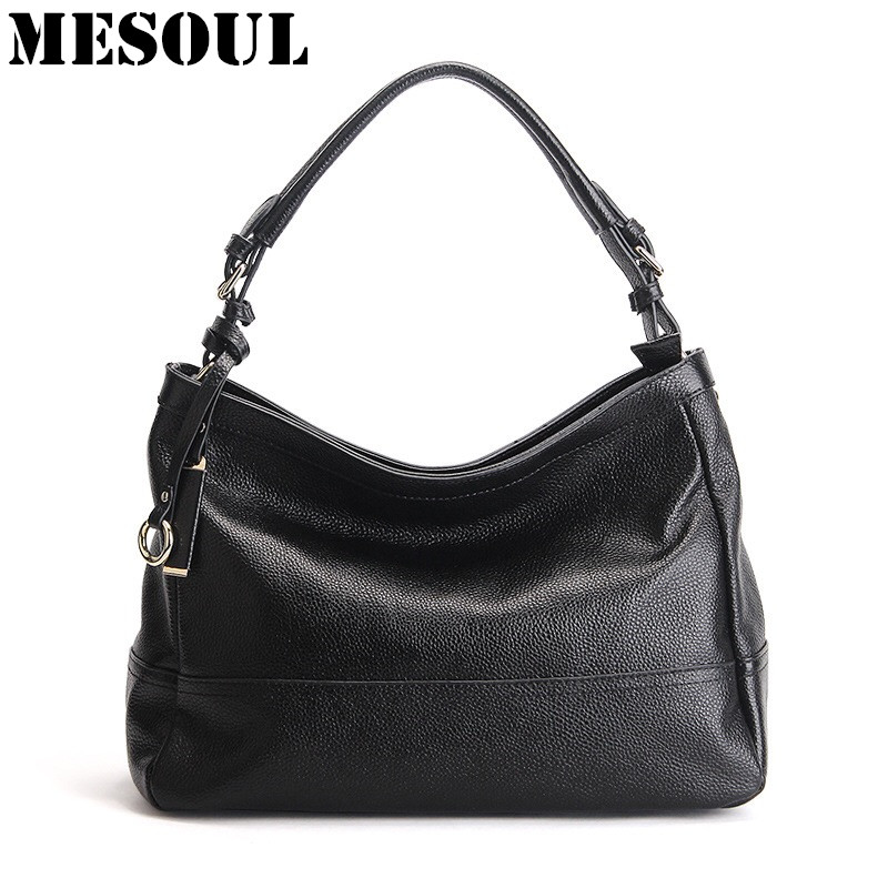 MESOUL 100% Genuine Leather Bag Women Cow Leather Handbags Famous Brand Female Messenger Bags Ladies Shoulder Bag Bolsos Mujer composite bag brand women handbag fashion women genuine leather handbags new women bag ladies women messenger bags bolsos mujer