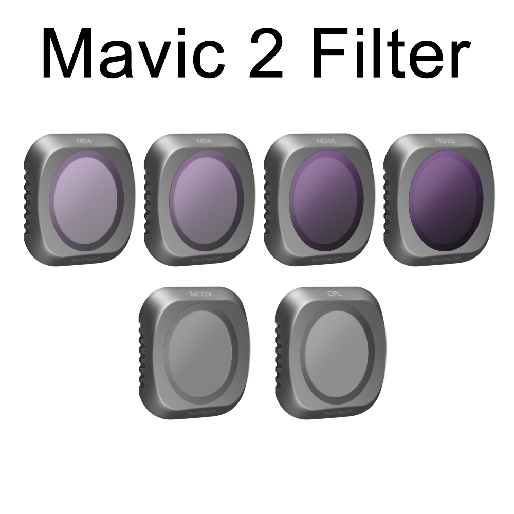 DJI Mavic 2 Lens Filter Bundle UV CPL ND4 ND8 ND16 ND32 for DJI Mavic 2 Pro Drone Hasselblad Camera Parts Polarizing Filter Kits цена 2017