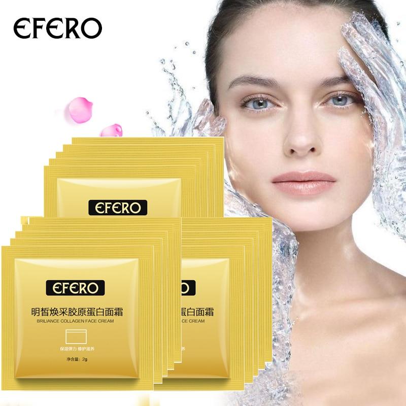 EFERO Hidratante Creme Para o Rosto Cuidados Com A Pele Ácido Hialurônico Essência Soro Anti-Envelhecimento para o Rosto Creme de Clareamento Anti-Rugas 10Packs