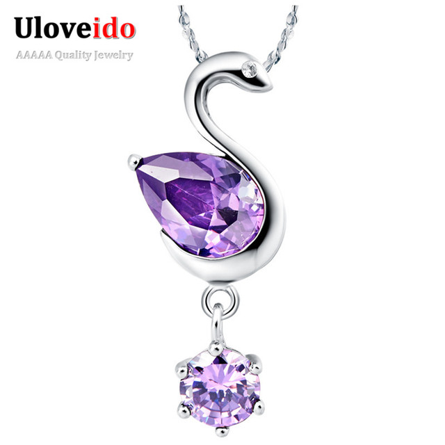 Cute swan big necklace red crystal colar purple necklaces cute swan big necklace red crystal colar purple necklaces pendants women jewelry anime pendant with mozeypictures Gallery