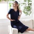 2017 rushed Cotton nightgowns elegant women short-sleeved Lingerie Nightgowns & Sleepshirts v-neck long Bathrobe pijama gecelik