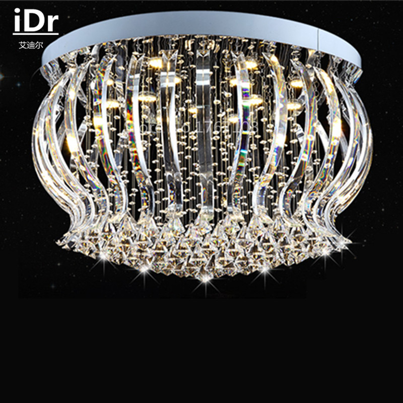 LED crystal lamp ceiling living room lamp creative bedroom luxury room lamp modern minimalist circular hall lighting iDr-0046