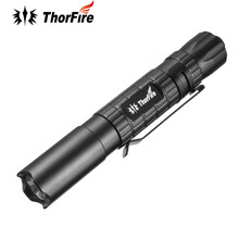 ThorFire PF01S Waterproof 120lm 3 Modes Mini Penlight Pen LED Flashlight AAA Clip Torch Tactical Light PF01 Upgraded Version