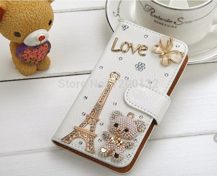 bilder für Entwürfe strass Wallet Litchi ledertasche Für Samsung Galaxy S7 Rand