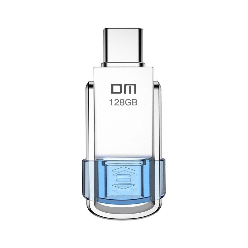 DM tipo-c USB C unidad Flash USB 3,0 128GB Pen Drive memoria de teléfono inteligente 64GB 32GB 16GB Mini USB USB-C 3,1 Dual de doble enchufe