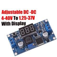 LM2596 LM2596S силовой модуль+ светодиодный вольтметр DC-DC Регулируемый понижающий модуль питания с цифровым дисплеем