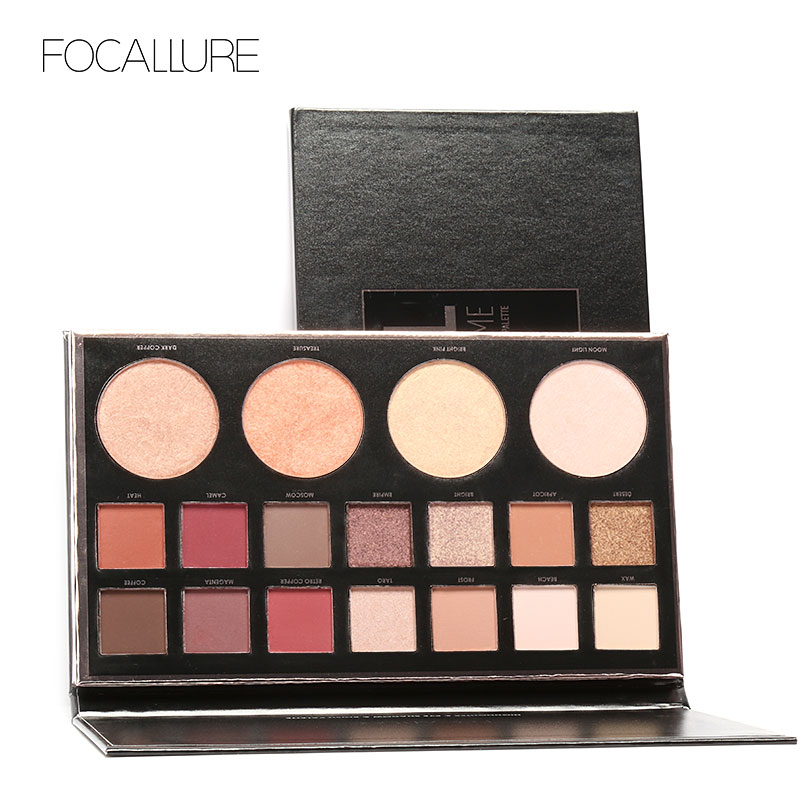 b7ebb37f813c4 US $17.96 |FOCALLURE Eyeshadow Palette 14 Colors Eyes Shadow and 4 colors  Blush Highlighter Palette Matte Diamond Glitter Shimmer Natural-in Eye ...