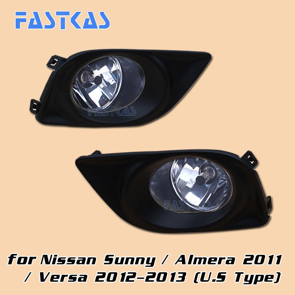 12v 55W Car Fog Light Assembly for Nissan Sunny Almera 2011 Versa 2012 2013 Front Fog