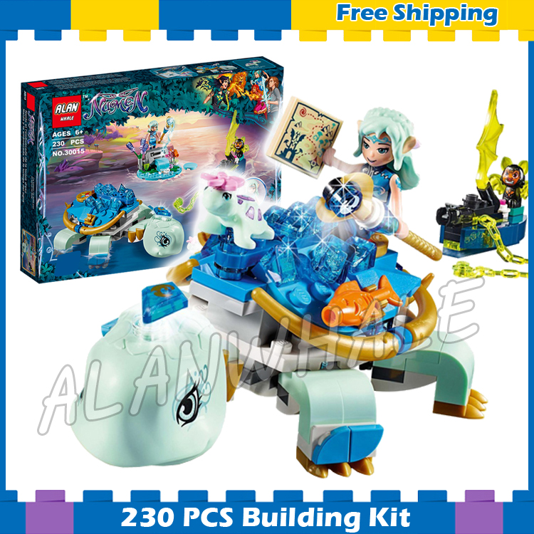 230pcs Elves Naida & the Water Turtle Ambush Floating island Boat 30015 Model Building Blocks Gifts sets Compatible with Lego
