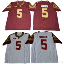 5772048c121 ... netherlands florida state seminoles jameis winston 5 college jersey  black red white stitched size s 62db0