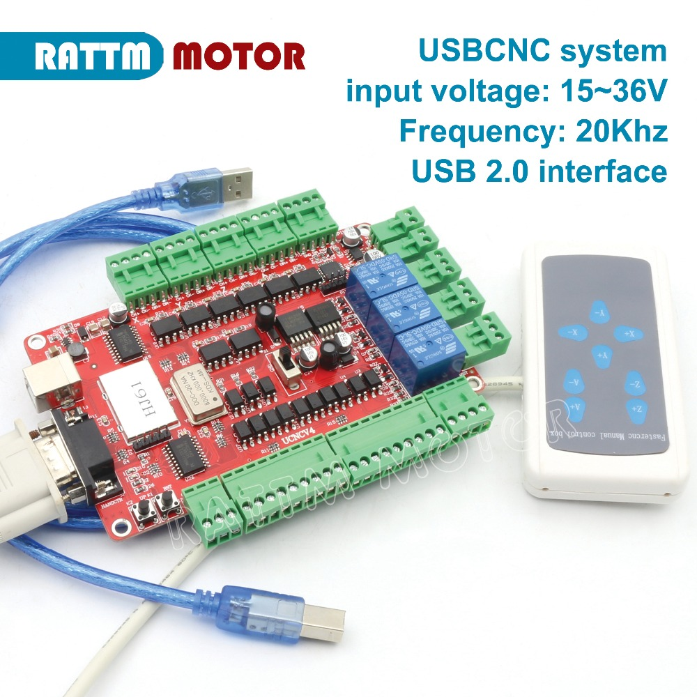 4 Axis USB CNC breakout board interface board controller USBCNC with Handle control USB port