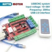 4 оси USB ЧПУ коммутационная плата интерфейсная плата контроллер USBCNC с ручкой управления usb-портом