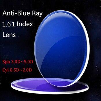 Kirka Anti-Blue Ray Lentes de Visão Única Lente 1.61 Índice Olho Lente de Prescrição para a Proteção Do Computador