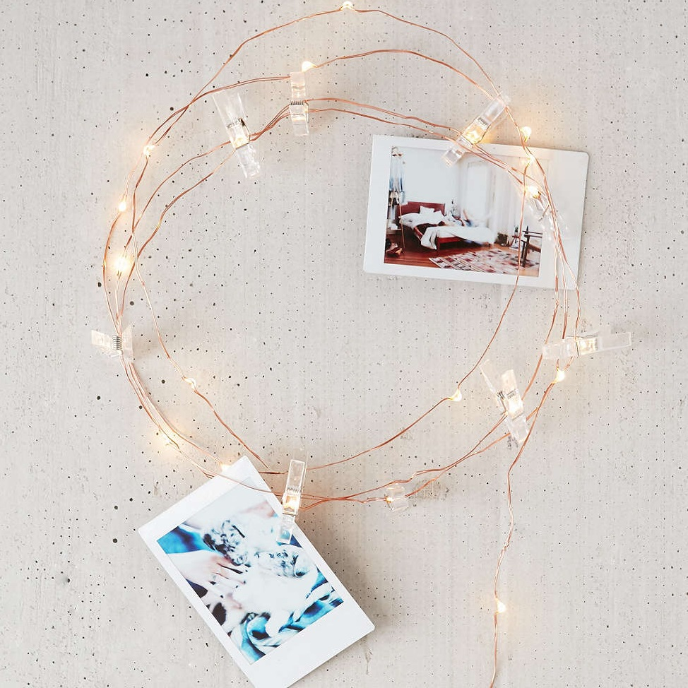 Battery operate 30 LED Copper Wire photo clip string lights Starry ...