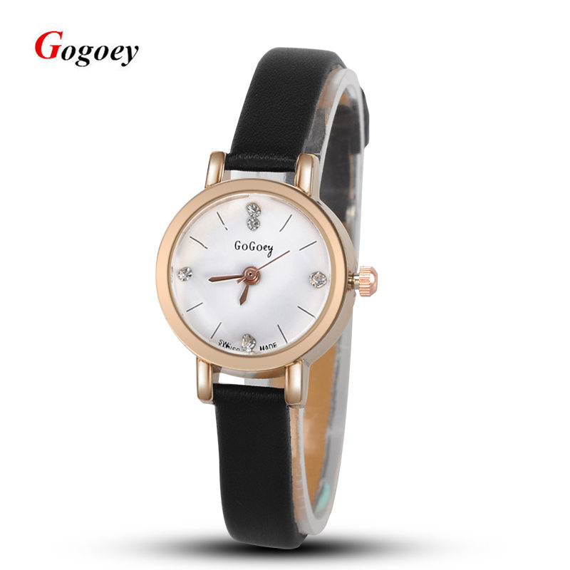 Fashion Leather Watch For Gilrs Women Analog Watches Elegant Casual Major Wristwatch Clock Small round dial mini Reloje hot sale luobos hot sale square style women watch fashion casual leather quartz wristwatch small dial ladies analog watches relojes 2017