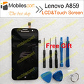 Lenovo A859 LCD Screen 100% Original LCD Display+Touch Screen Replacement Accessories For Lenovo A859 Free Shipping