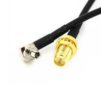 6 дюймов SMA гнездо гайка переборка прямой штекер mcx RG316 кабель свиной хвост 15 см