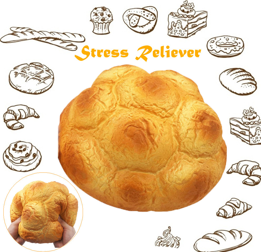 Giant 25cm Scented Cream Puff Squishy Super Slow Rising Straps Soft Squeeze Simulate Bread Cake Gift Kid Fun Toy W524