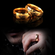 Midi Stainless Steel One Ring of Power Gold the Lord of Ring Lovers Women Men