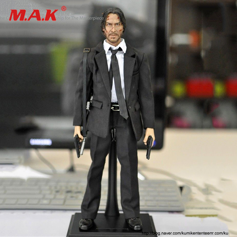 1/6 KMF037 Type John Wick Retired Killer Keanu Reeves 12'' Male Figure WIth Weapons & accessories  For Collection
