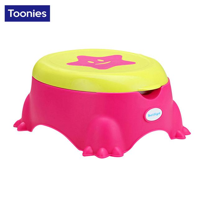 Calças de Treinamento Bacio bebé Higiênico estrela higiênico Plástico Não-deslizamento Crianças Assento Do Vaso Sanitário Dobrável Protable Viagem Cadeirinha Infantil Crianças