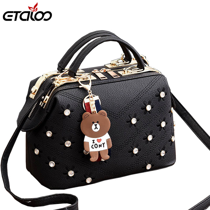 Women Handbags 2019 New Female Korean Handbag Crossbody Shaped Sweet Shoulder Bag Flowers Small Bags