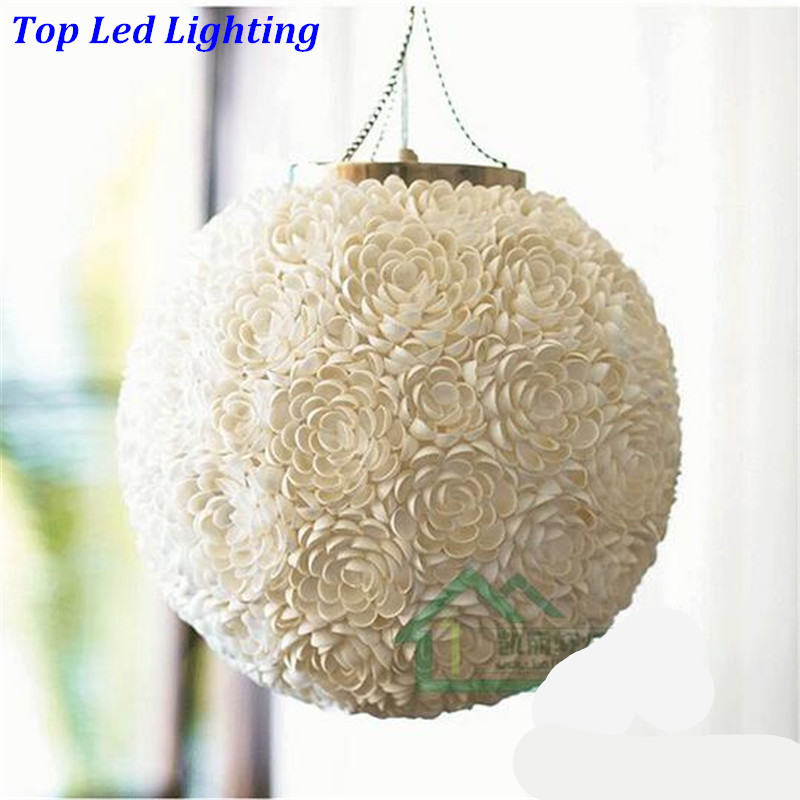 Handmade Creative Fashion Mediterranean Sea Shells Dia 40cm Led E27 Pendant Light For Living Room Restaurant AC 80-265V 1229 шины yellow sea 235 245 265 70r75r85r31x10 5r15r16 x8