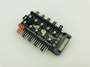 Image 2 - 最新 1 に 10 PC 冷却ファンハブスプリッタ LED ケーブル PWM SATA 12 V 電源スピードコントローラアダプタ bitcoin Miner のマイニングのための