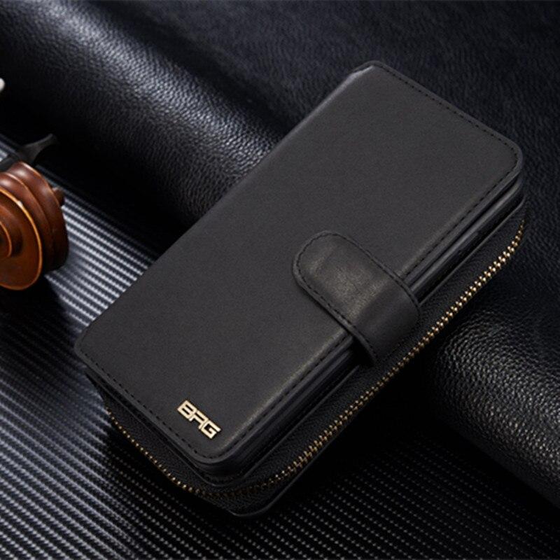 imágenes para BRG Mujeres Bolso de Cuero de la Carpeta Para Samsung Galaxy S5 neo G903F Multi Card Slots Cubierta Del Teléfono Independiente