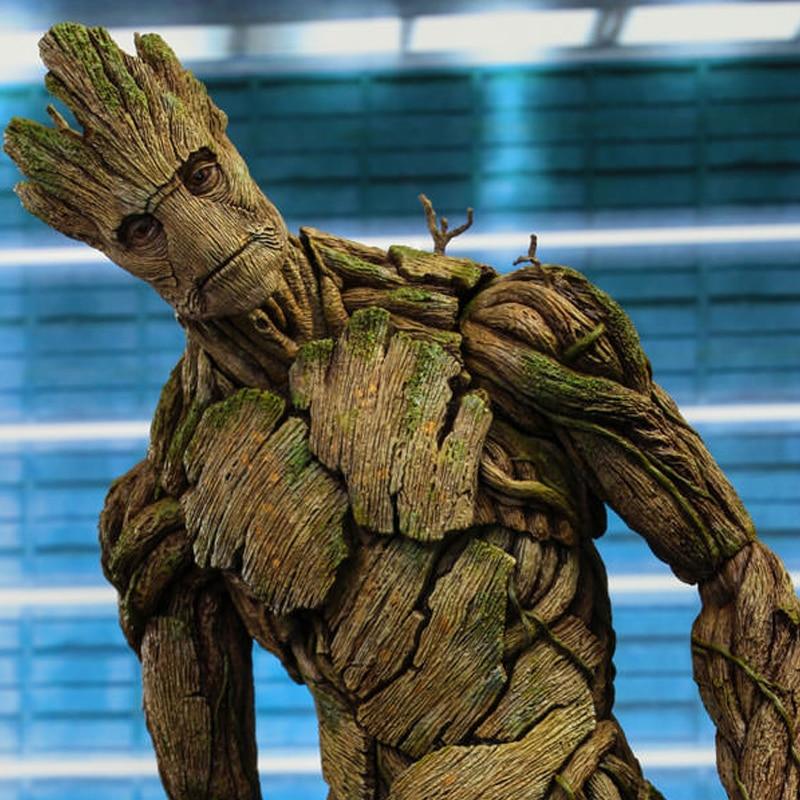 Chaude Jouets Version Marvel Groot en Gardiens de La Galaxie Arbre Homme Avengers 40 cm grande taille BJD jouets figurines d'action