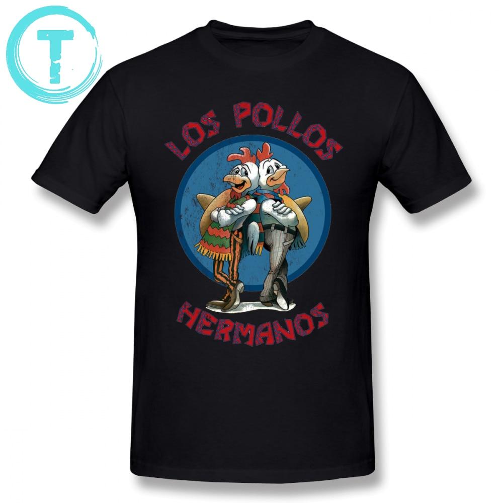 f98e517bd Breaking Bad T Shirt Los Pollos Hermanos T-Shirt Male Plus size Tee Shirt  Graphic Short Sleeve Classic 100 Cotton Funny Tshirt