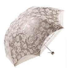 Simanfei 3D Flowers Guarda Chuva White Sun Umbrella 3 Folding Umbrella Rain Women Anti UV Outdoor Travel Sombrinha зонт other 2015 paraguas sombrinha guarda chuva 919