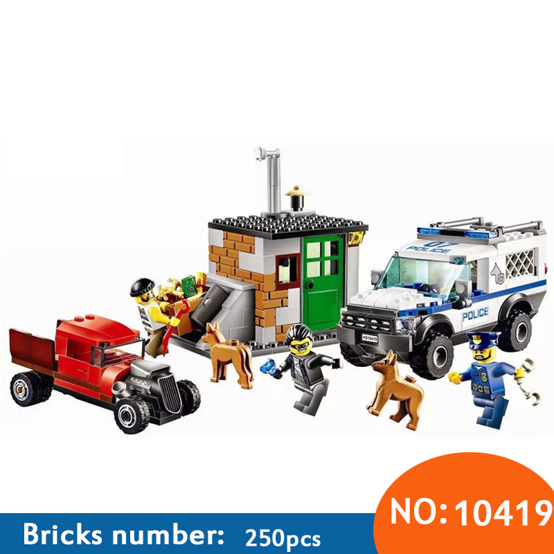 10419 NEW 250pcs Bela Urban City Police Commandos figures Building Block figures Toys For Children Compatible with 60045 city compatible lepin city block police dog unit 60045 building bricks bela 10419 policeman toys for children 011