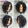 Glueless Short Bob Full Lace Human Hair Wigs For Black Women Peruvian Virgin Hair Curly Lace Front Human Hair Wig Bob Short Wig