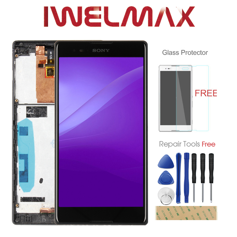 Tested 6.0'' For SONY Xperia T2 Ultra LCD Display Touch Screen D5322 D5303 D5306 XM50h Digitizer with Frame Replacement