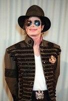 Custom Made New MJ Professional Cosplay MICHAEL JACKSON Costume Retro Punk Jacket British Army Dress Coat Black Color