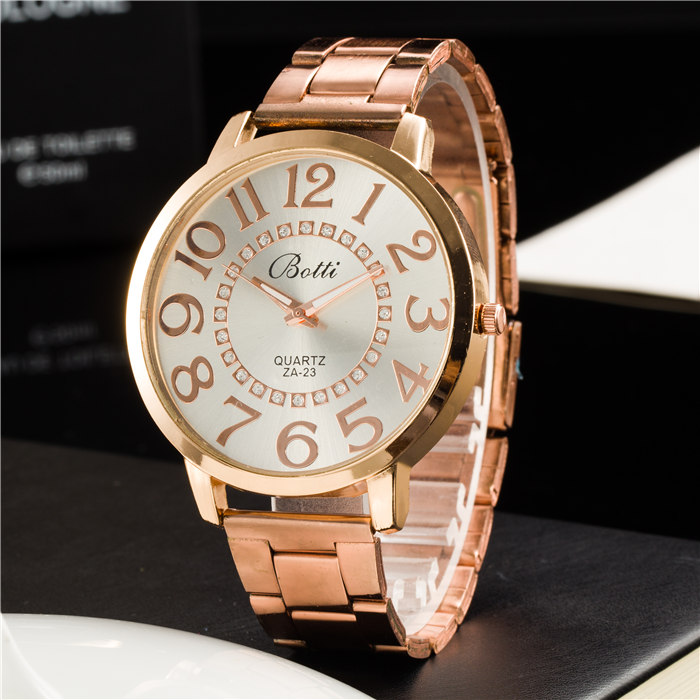 New Ybotti Famous Brand Rosy Gold Crystal Different Style Casual Quartz Watch Women Stainless Steel Watches Relogio Feminino Hot new luxury brand dqg crystal rosy gold casual quartz watch women stainless steel dress watches relogio feminino clock hot sale