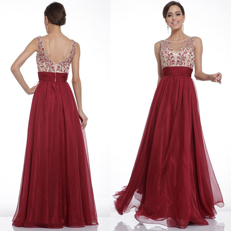 Wedding Party Dress Elegant Dress Women For Wedding Guest Solid Color Embroidered Waist Sexy Backless Large Long Prom Dress
