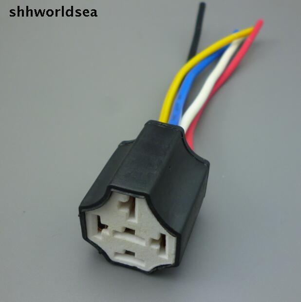 shhworldsea 145cm 16AGW copper cable 10pcs Ceramic Car relay holder