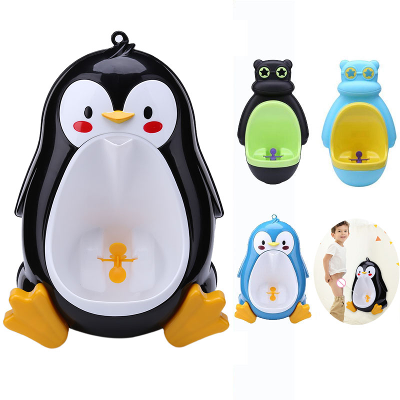 Baby Urinal Babies <font><b>Boys</b></font> Potty Toilet Training Frog Penguin Animal Shape Kids Children Stand Vertical Urinal Infant <font><b>Boy</b></font> Penic Pee image