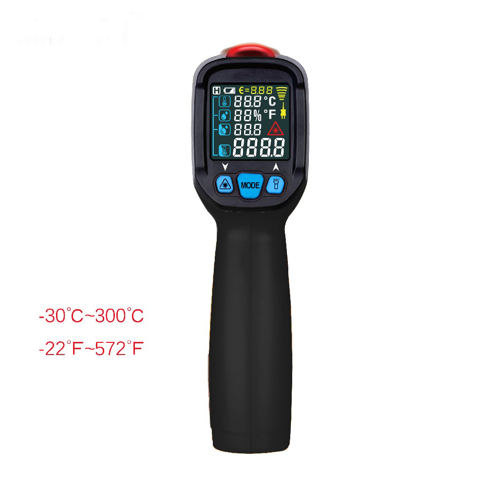 ФОТО BTM21A Non-contact Laser Color Infrared Thermometer with Data Retention & Temperature Alarm IR NEW LCD Digital Temperature Meter