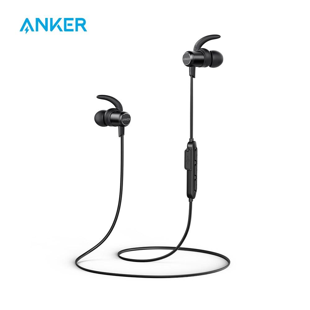 [Обновить] Anker тонкая беспроводная гарнитура легкий Bluetooth 4,1 наушники IPX5 влагостойкая Спортивная гарнитура с микрофоном