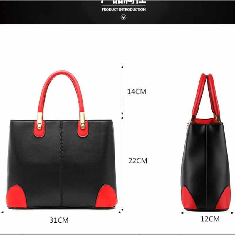 100% couro Genuíno Das Mulheres bolsas 2019 bolsa Nova senhora em preto e branco senhoras moda bolsas bolsa de Ombro Mensageiro Bolsa