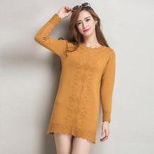 Для женщин Свитеры для женщин платье Пуловеры для женщин Новинка 2017 года зимний теплый длинный вязаный свитер Трикотаж пончо туники серый черный розовый плюс Размеры 3XL