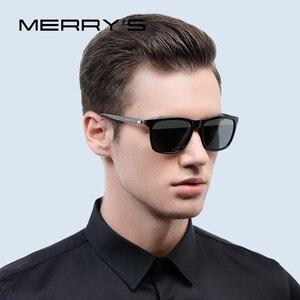 Image 2 - MERRYS Unisex Retro alüminyum güneş gözlüğü polarize Lens Vintage güneş gözlüğü erkekler için/kadın S8286