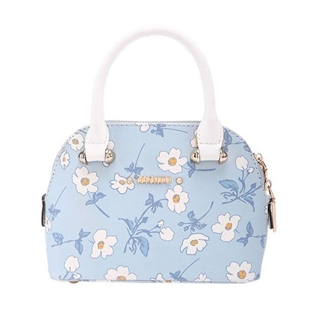 2017 Anese Style Daisy Shell Bag Design Flower Tote Bags Women Leather Handbag Messenger Shoulder